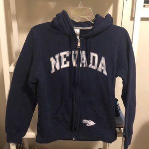 Nevada Wolfpack zip-up hooded sweatshirt